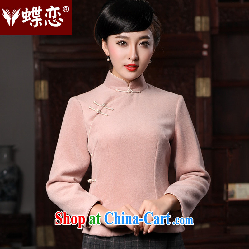 Butterfly Lovers spring 2015 the new, improved stylish Chinese T-shirt wool is Ms. long-sleeved T-shirt outfit 49,138 figure XL