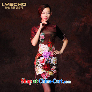The 2013 can also be spring new wool stamp improved retro fashion daily short cheongsam sleeves in figure XXXL