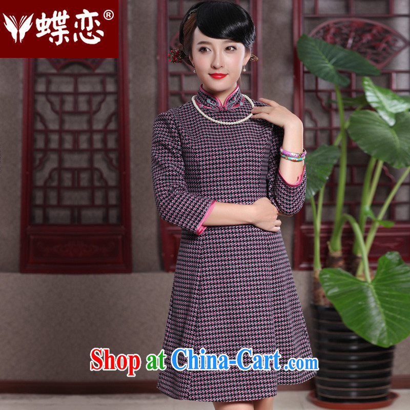 Butterfly Lovers 2015 spring new improved style Chinese qipao Stylish retro improved dress 49,018 1000 red Bird, XXL