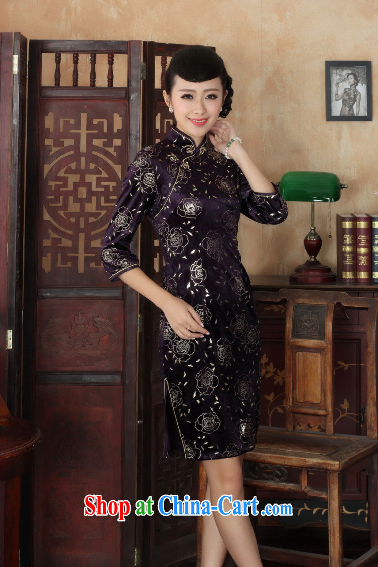 Jack Plug, new Chinese Ethnic Wind female, for manually for the velvet beauty 7 sub-cuff cheongsam dress as XXXL pictures, price, brand platters! Elections are good character, the national distribution, so why buy now enjoy more preferential! Health