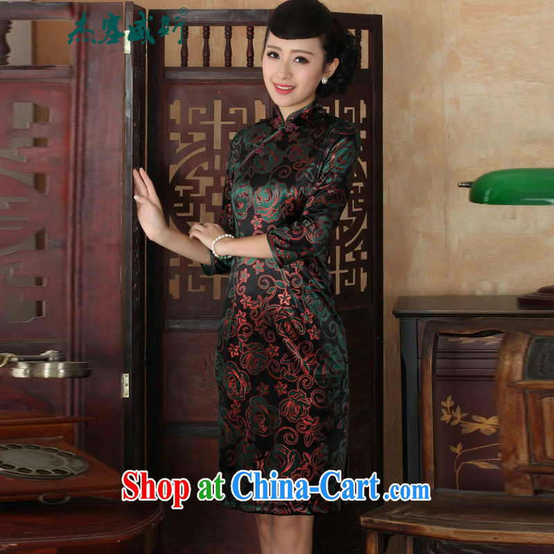 Jessup, new Chinese Ethnic Wind female, for manually for the velvet cheongsam beauty dress as shown XXXL