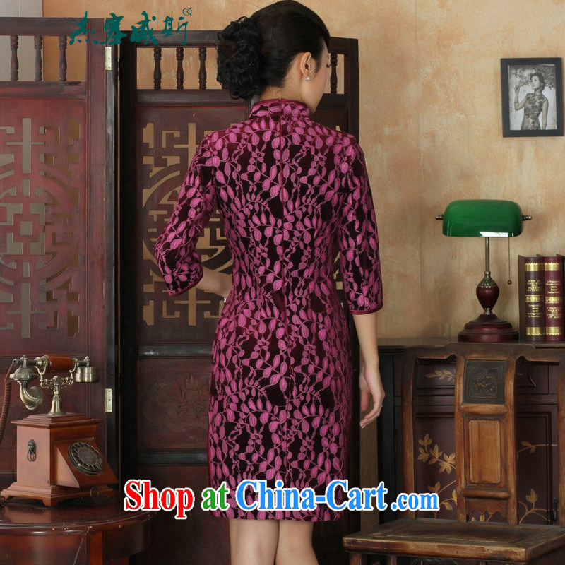 Jessup, new Ethnic Wind Women's clothes, for manually tie lace-wool Sau San Tong with cheongsam dress girls 0020 green XXXL, Jessup, and shopping on the Internet