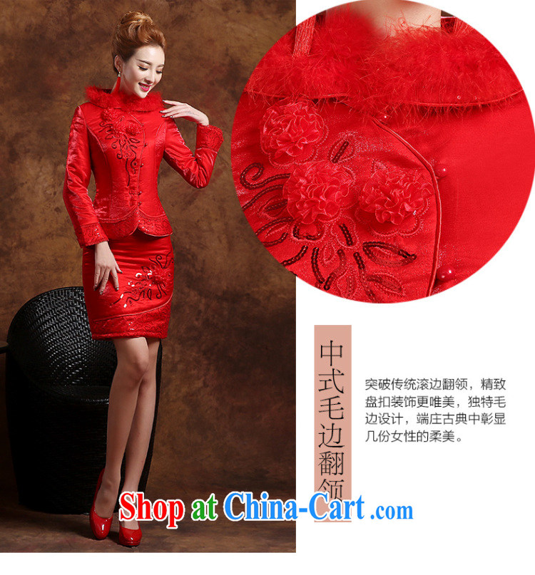 Sophie HIV than toasting Service Bridal Fashion summer 2015 new Chinese qipao long-sleeved wedding dresses evening dress uniform toast short red XXL pictures, price, brand platters! Elections are good character, the national distribution, so why buy now enjoy more preferential! Health
