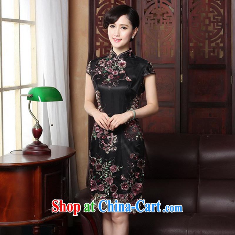 The Yee-sa 2015 new summer original female Chinese improved modern day qipao dresses 3088 Y B XL 3