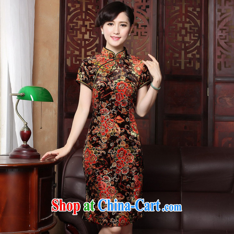 The Yee-Windsor cheongsam dress summer beauty Stylish retro improved casual elegance girl cheongsam dress Chinese cheongsam daily 3118 Y B M