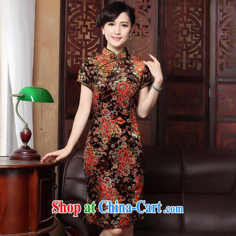 The Yee-Windsor cheongsam dress summer beauty Stylish retro improved casual elegance girl cheongsam dress Chinese cheongsam daily 3118 Y B M