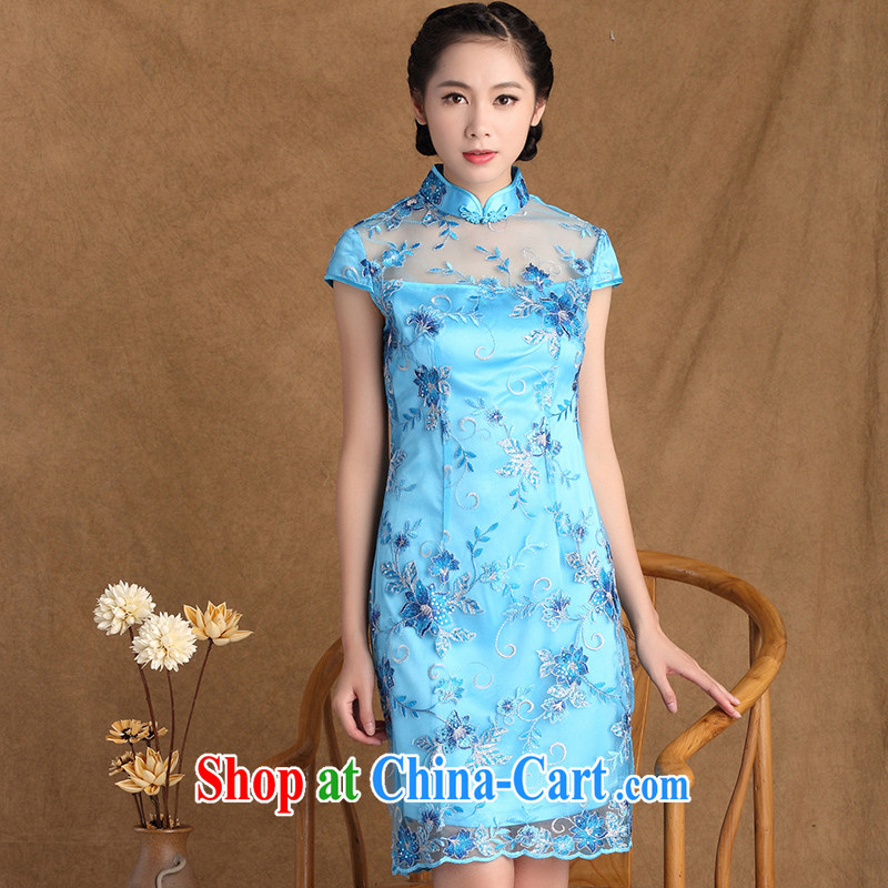 The Yee-SA to Yen 2015 summer new women with fine lace stylish outfit improved retro elegant qipao skirts Y 3133 B XL 3