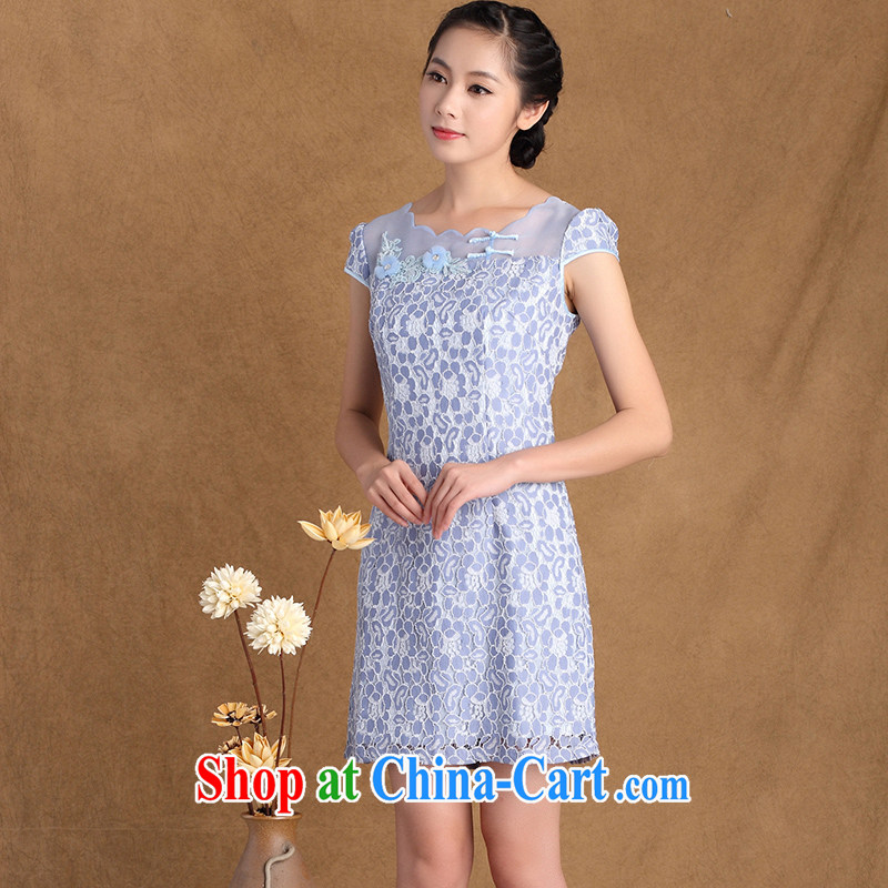 The cross-sectoral Windsor summer 2015 new women with exquisite floral lace Beauty Fashion cheongsam dress 3177 Y B 2 XL, cross-sectoral, Elizabeth, and shopping on the Internet