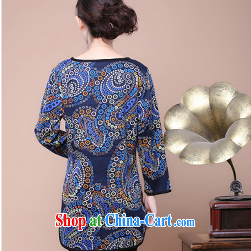 Air Shu Diane 2014 autumn new national style in a new, summer Women's clothes, the middle-aged female mother load Tang replace stamp duty Orchid color XXXL, aviation Shu Diane, qipao/Tang, and online shopping