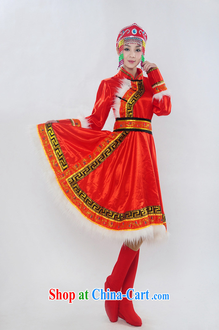 Double-122,014, genuine new Mongolia show serving minority Mongolian folk girl costumes dance clothing HXYM - 0028 red XL pictures, price, brand platters! Elections are good character, the national distribution, so why buy now enjoy more preferential! Health