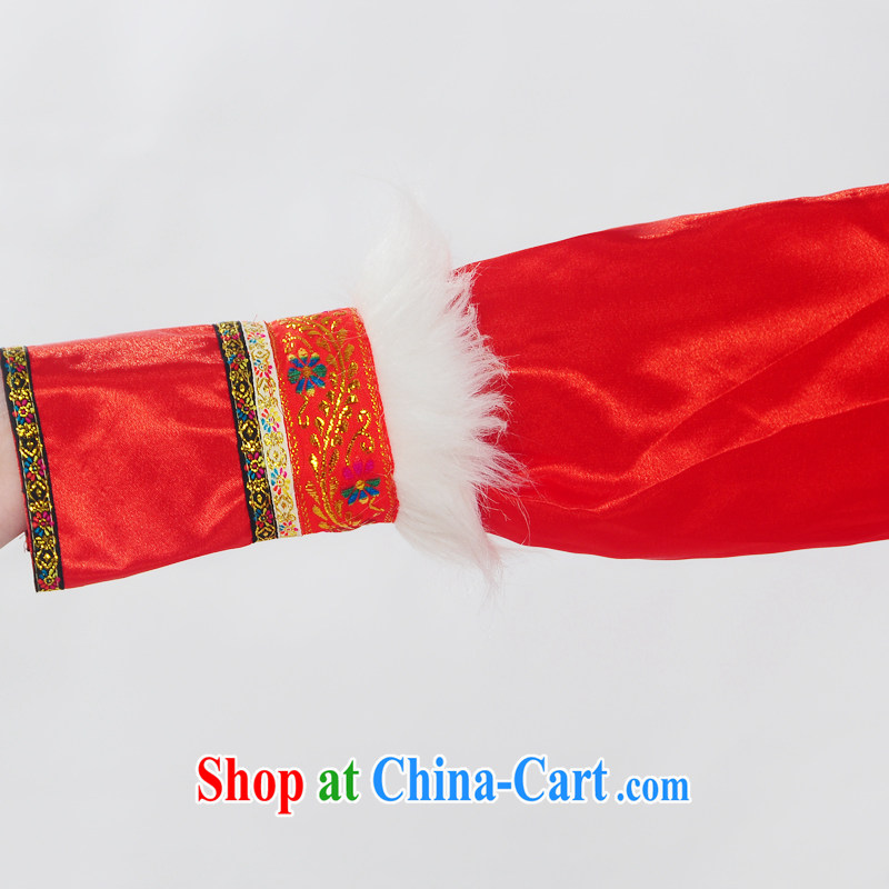 Double-122,014, genuine new Mongolia show serving ethnic minorities Mongolian folk girl costumes dance clothing HXYM - 0028 red XL, King coconut, shopping on the Internet