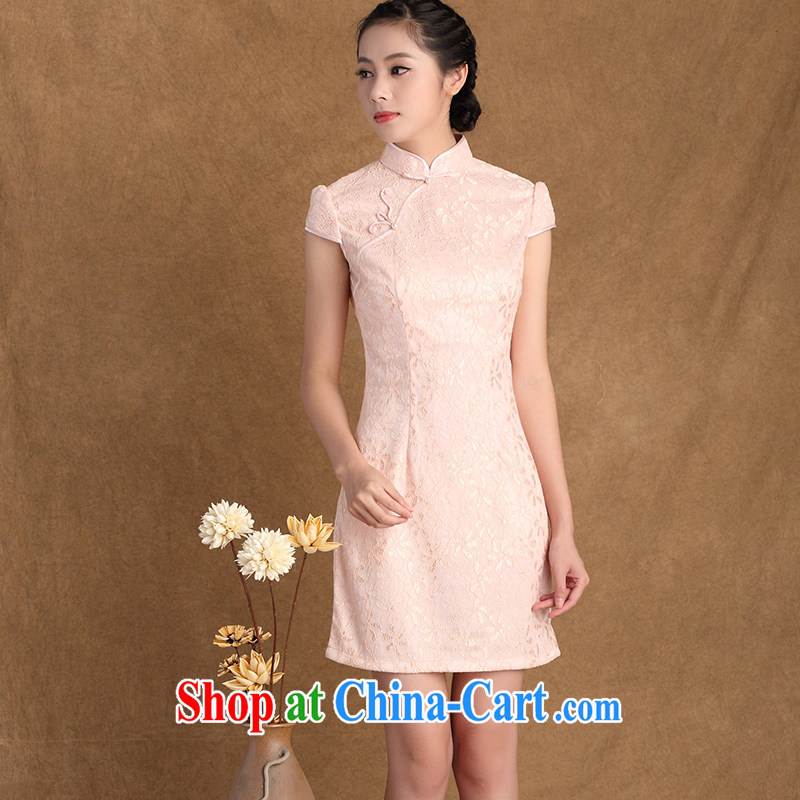 The cheer her new summer, short-sleeved lace cheongsam Chinese Antique style improved cheongsam dress 3137 Y B L