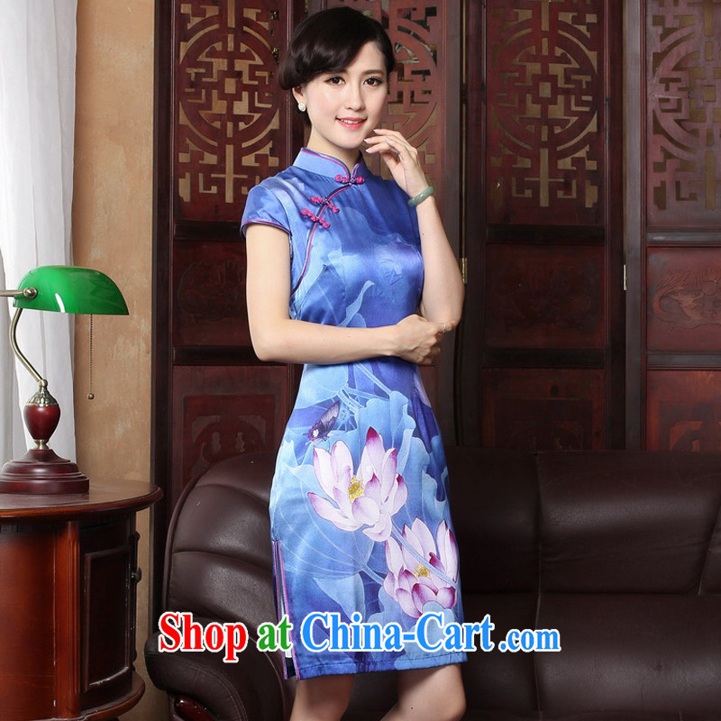 The cross-sectoral Windsor Silk Cheongsam silk dos santos improved retro republic of cheongsam dress elegance spring loaded 3188 qipao Y B 2 XL