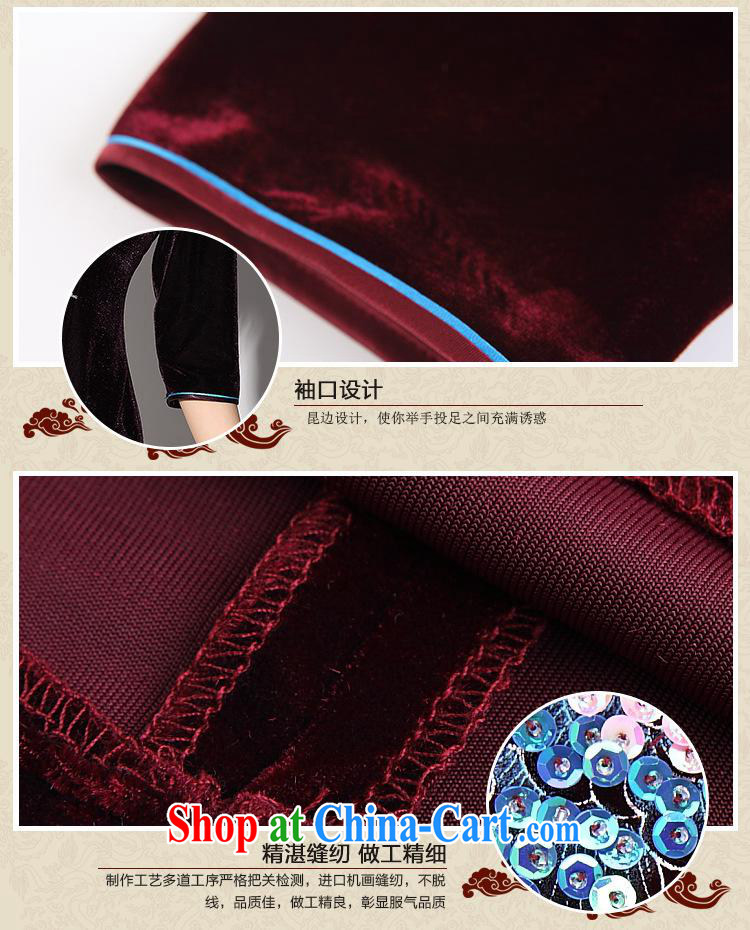 As regards genuine 2014 new gold velour hand-painted nails Pearl short cheongsam Custom Daily payment short qipao wine red cuff XXXL pictures, price, brand platters! Elections are good character, the national distribution, so why buy now enjoy more preferential! Health