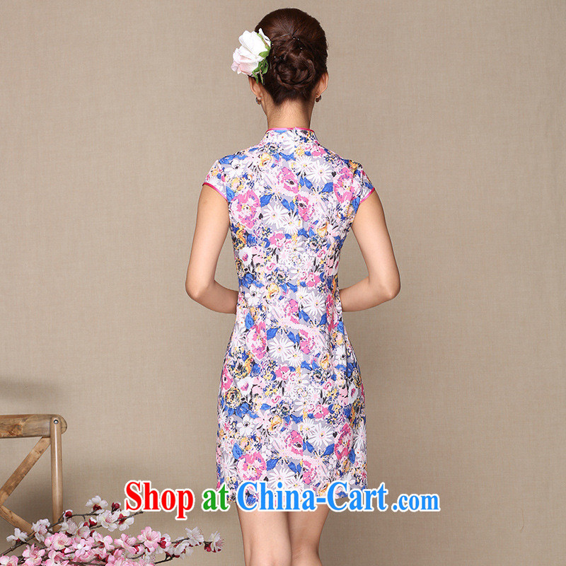 As regards retro cheongsam dress daily retro dresses skirts daily retro dresses new improved antique cheongsam dress picture color XL