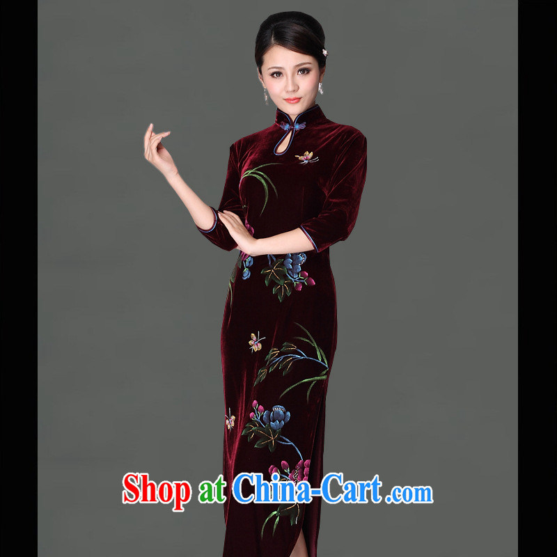 2014 standard plain painting dress a batch with improved Stylish retro custom cheongsam MOM loaded Uhlans on qipao XXXL