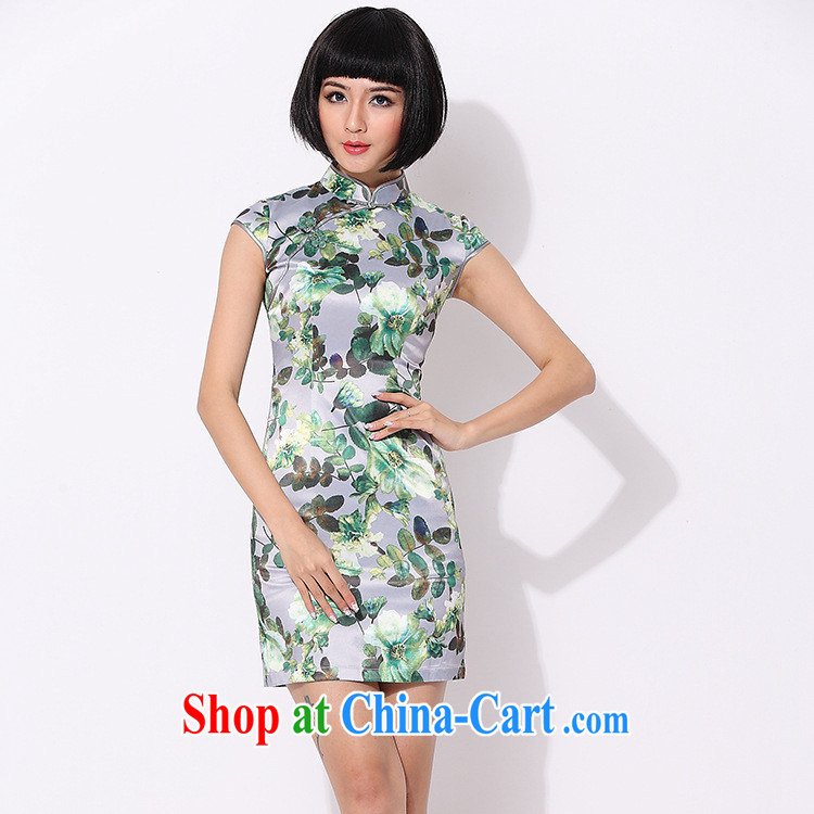 As regards Mr Ronald ARCULLI, improved stylish dresses daily improved cheongsam dress Stylish retro improved qipao cheongsam dress green XL