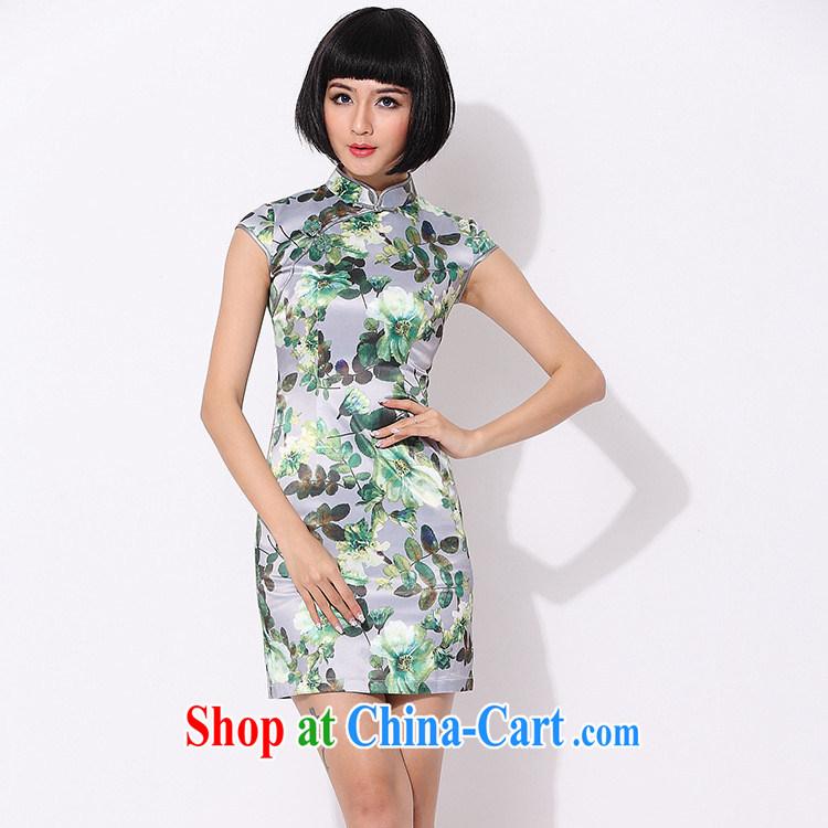 As regards Mr Ronald ARCULLI, improved stylish dresses daily improved cheongsam dress Stylish retro improved qipao cheongsam dress green XL