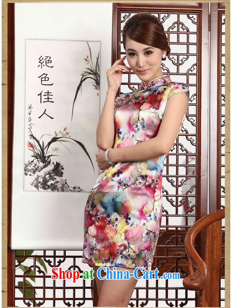 2014 New Silk short cheongsam Stylish retro style graphics thin package and improved daily goods short female summer picture suit XXL pictures, price, brand platters! Elections are good character, the national distribution, so why buy now enjoy more preferential! Health