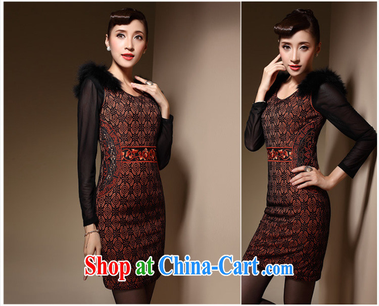 Cyd Ho Kwun Tong winter fire cotton robes winter clothes 2014, Chinese improved stylish quilted dress QM 3916 orange XXL pictures, price, brand platters! Elections are good character, the national distribution, so why buy now enjoy more preferential! Health