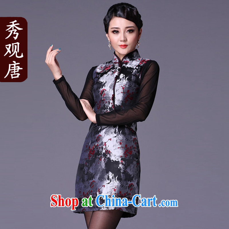 Cyd Ho Kwun Tong 3 Phillips-head screwdriver to winter improved fashion cheongsam/winter Clamp Unit 2015 new dresses G 99,216 fancy XXL