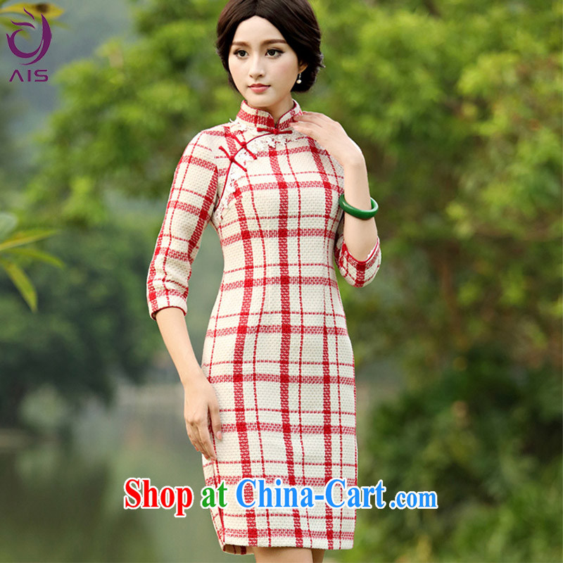Still, the 2014 autumn and winter, new, long, Aura daily 7 cuff improved cheongsam dress in pure XXXL