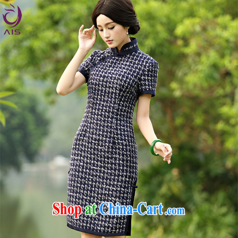 Still, the 2014 autumn and winter new dresses in aura long improved cheongsam Lanna XXXL