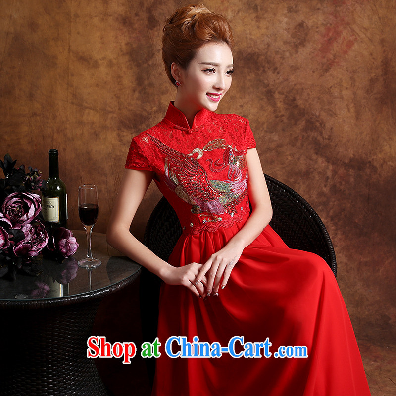 Sophie HIV than high summer wedding dresses 2015 new summer marriages served toast cheongsam dress wedding dress red XXL, than AIDS (SOFIE ABBY), online shopping