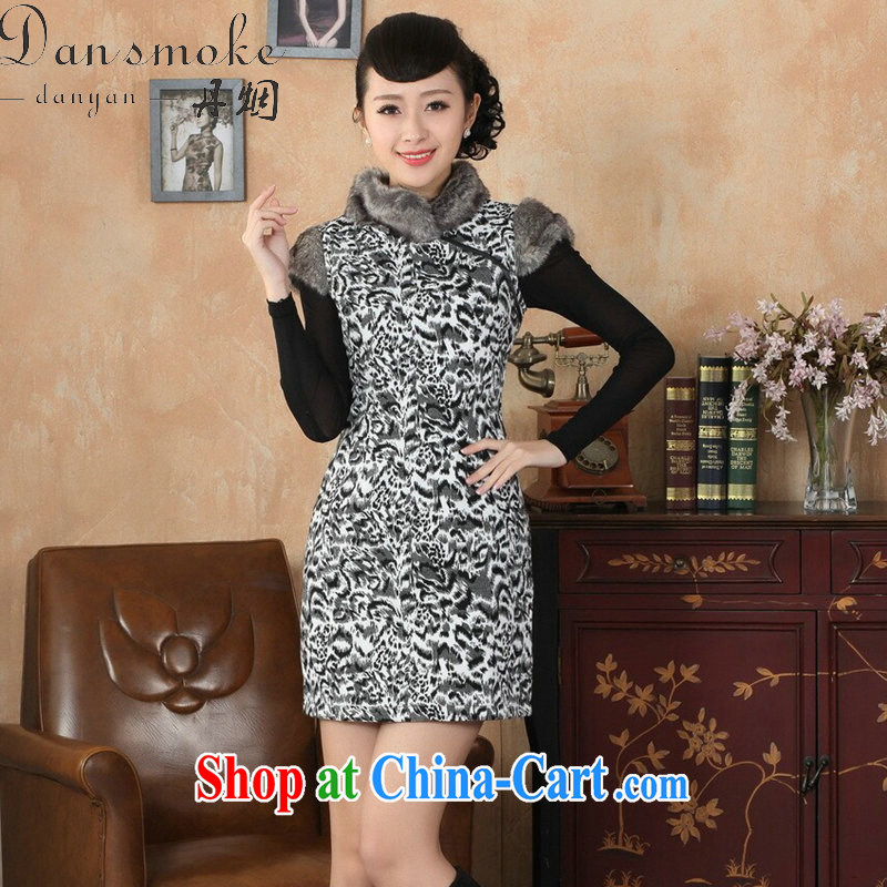 Bin Laden smoke winter clothes cheongsam dress Tang is a leading Chinese qipao improved gross winter outfit for warm hair dresses? As figure 2 XL