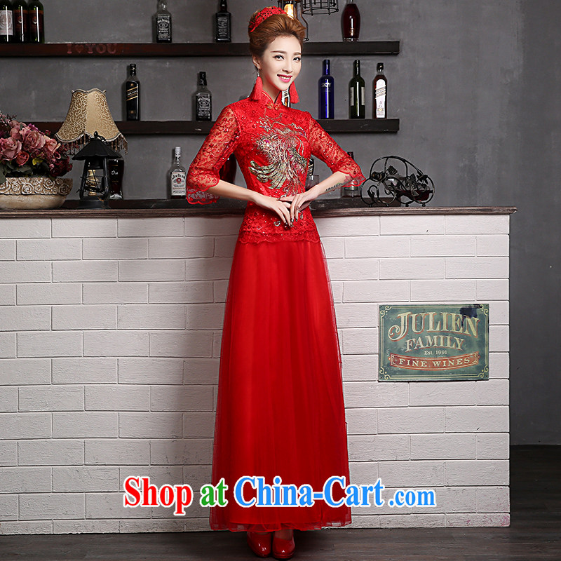 Sophie AIDS outfit than toasting Service Bridal Fashion summer 2015 new wedding dresses long, long-sleeved clothes toasting Xu Chinese wedding dress dresses red XXL