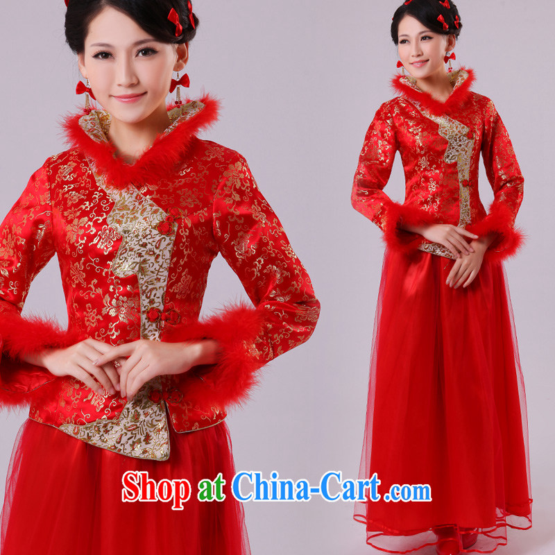 A good service is 2015 new winter with Chinese woman bride dresses red wedding dress toast serving the leader code plus Gross winter, 4 XL