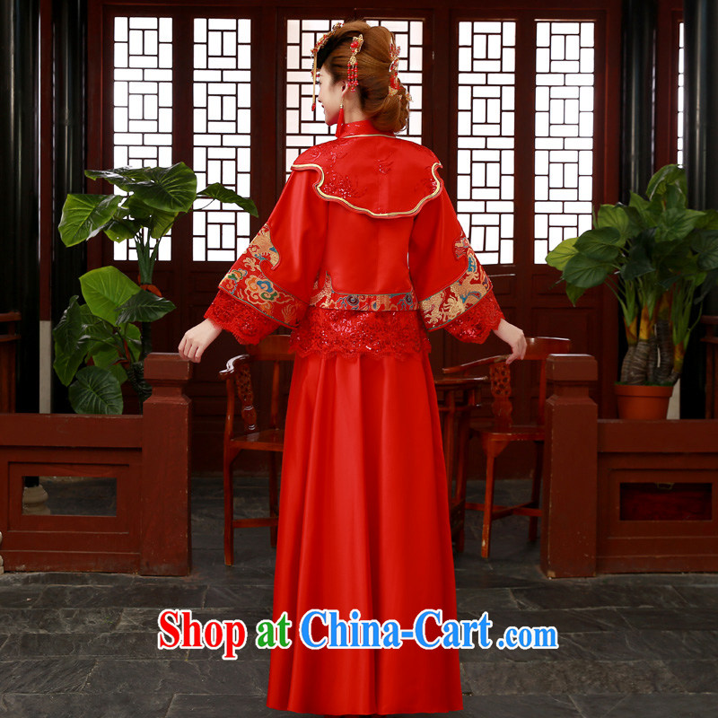 A good service is 2015 new bride married Yi wedding dress show reel outfit serving toast serving Phoenix use Su-kimono red-su Wo service 2 XL, good service, and shopping on the Internet