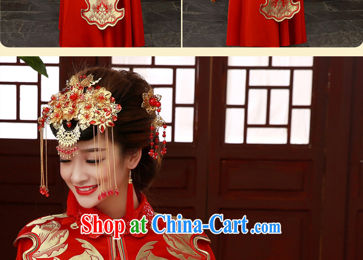 A good service is 2015 new wedding dress show reel Service Bridal married cheongsam dress uniform toast use phoenix Sau kimono red Sau Wo service 2 XL pictures, price, brand platters! Elections are good character, the national distribution, so why buy now enjoy more preferential! Health