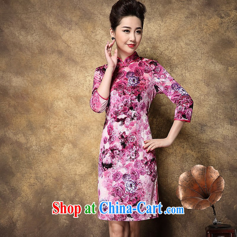 2014 new female high standard 7 sub-cuff low-power's retro stamp duty is a tight outfit skirt wholesale picture color XXXL