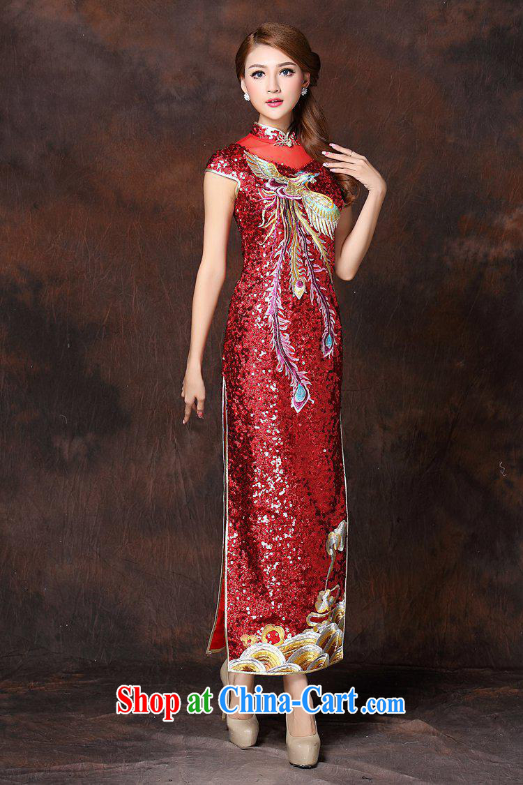2014 new female high-quality to the embroidery nail Pearl stereo Phoenix long, the Lao dresses wedding dresses serving red XXXL pictures, price, brand platters! Elections are good character, the national distribution, so why buy now enjoy more preferential! Health