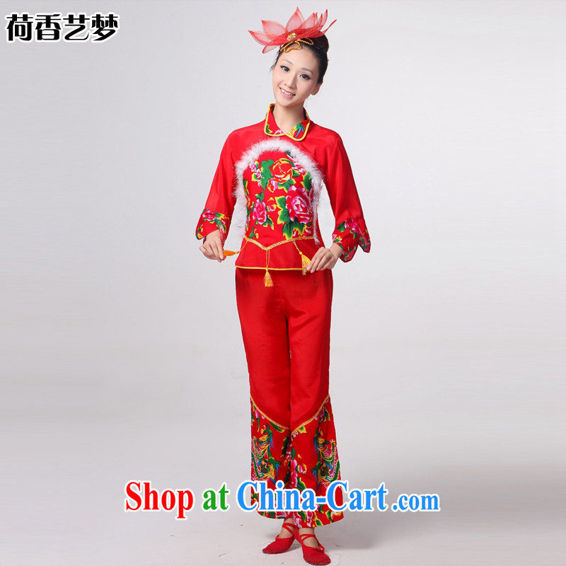 I should be grateful if you would arrange for her dream 2014 new show clothing national square dance fans dance clothing female package Yangge stage HXYM 0036 red XXL