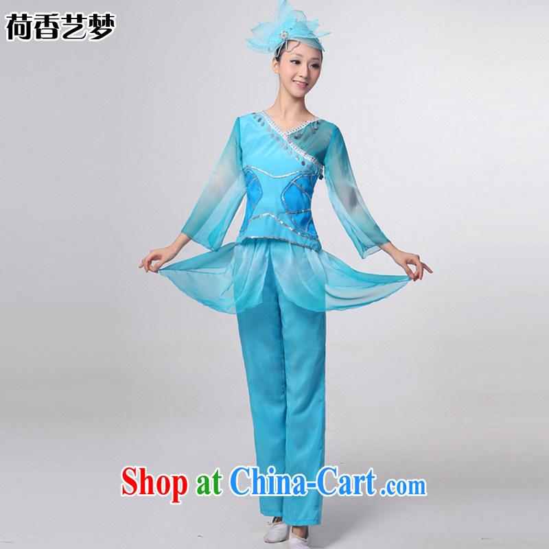 I should be grateful if you would arrange for her dream of performing arts 2014 NEW classic dance clothing costume dance Apparel clothing Yangge Choral & Dance clothing HXYM 0034 blue XXXXL