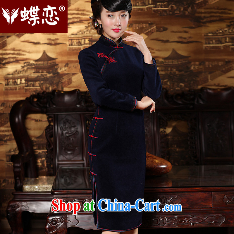 Butterfly Lovers 2015 spring new stylish improved wool dresses? dresses retro long, long-sleeved robes 49,156 Tibetan youth L