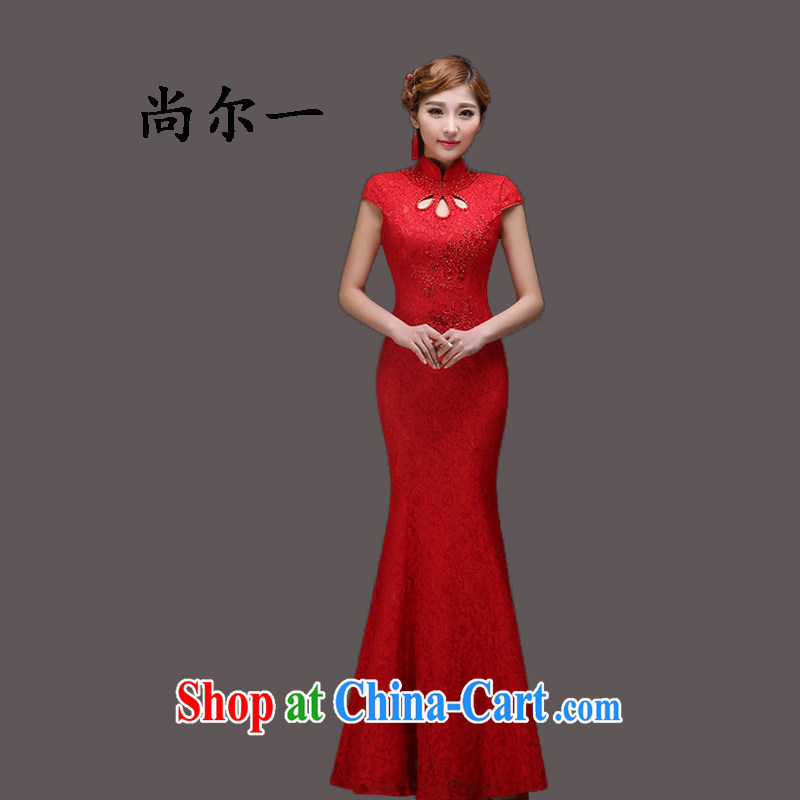 Still, 12,014 stylish wedding lace red bridal dress wedding dresses serving toast Chinese Dress YY 5002 red XXL