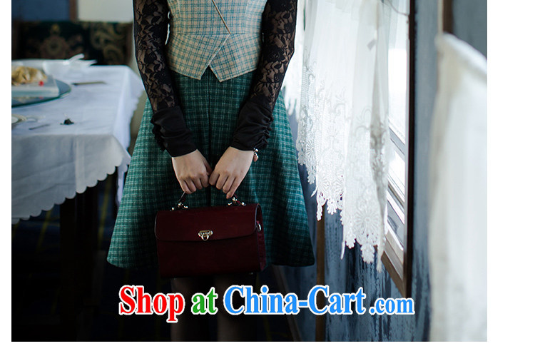 proverbial hero once and for all and there is a National wind wool tartan, for this gross beauty skirt dresses fall and winter new stylish green 2 XL pictures, price, brand platters! Elections are good character, the national distribution, so why buy now enjoy more preferential! Health