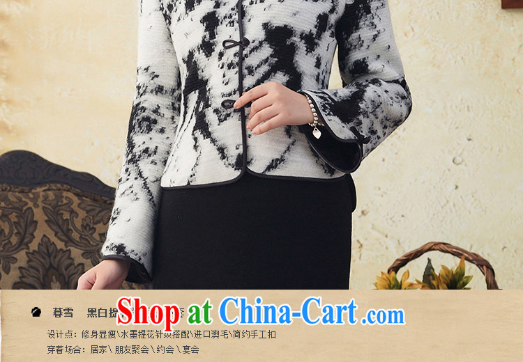 once and for all, and proverbial hero snow Chinese long-sleeved Chinese T-shirt ladies' 2015 winter woolen short jacket, T-shirt dresses tea white XL pictures, price, brand platters! Elections are good character, the national distribution, so why buy now enjoy more preferential! Health