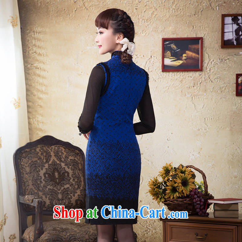 once and for all and without wind the hair beauty is loaded autumn dresses and stylish China's national culture and quality for female dress royal blue 2 XL, fatally jealous once and for all, and, shopping on the Internet