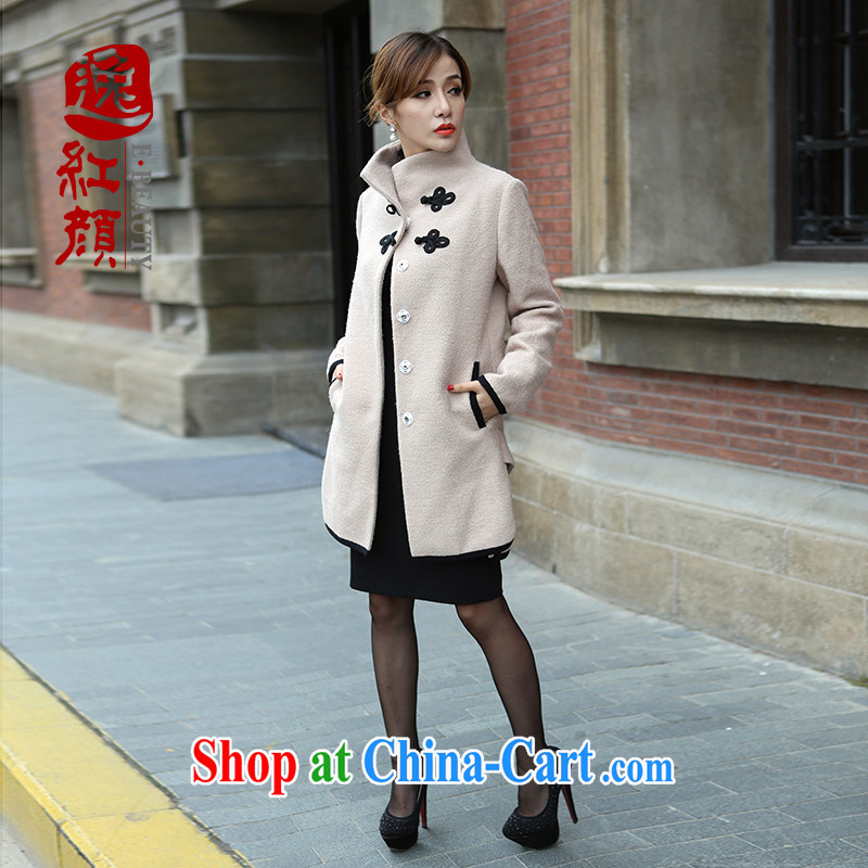 once and for all which fatally jealous smoke high-end wool snow, it is Yi Girls jacket 2015 autumn and winter with long-sleeved jacket coat and color 2 XL