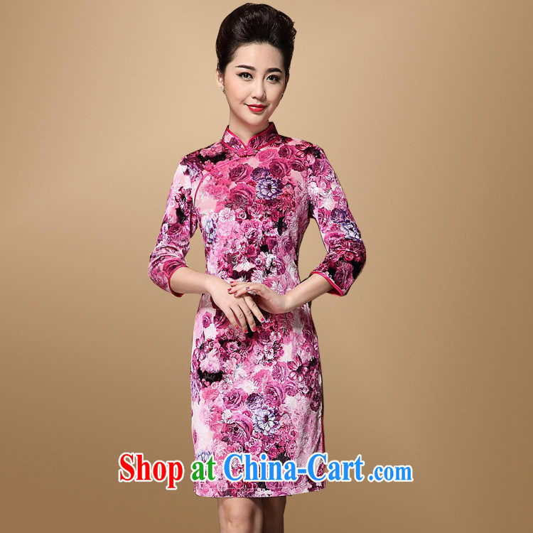 Fall, 2014 Chinese qipao agent in old age is 40 - 60-year-old mother MOM load the code dresses chubby picture color XXXL
