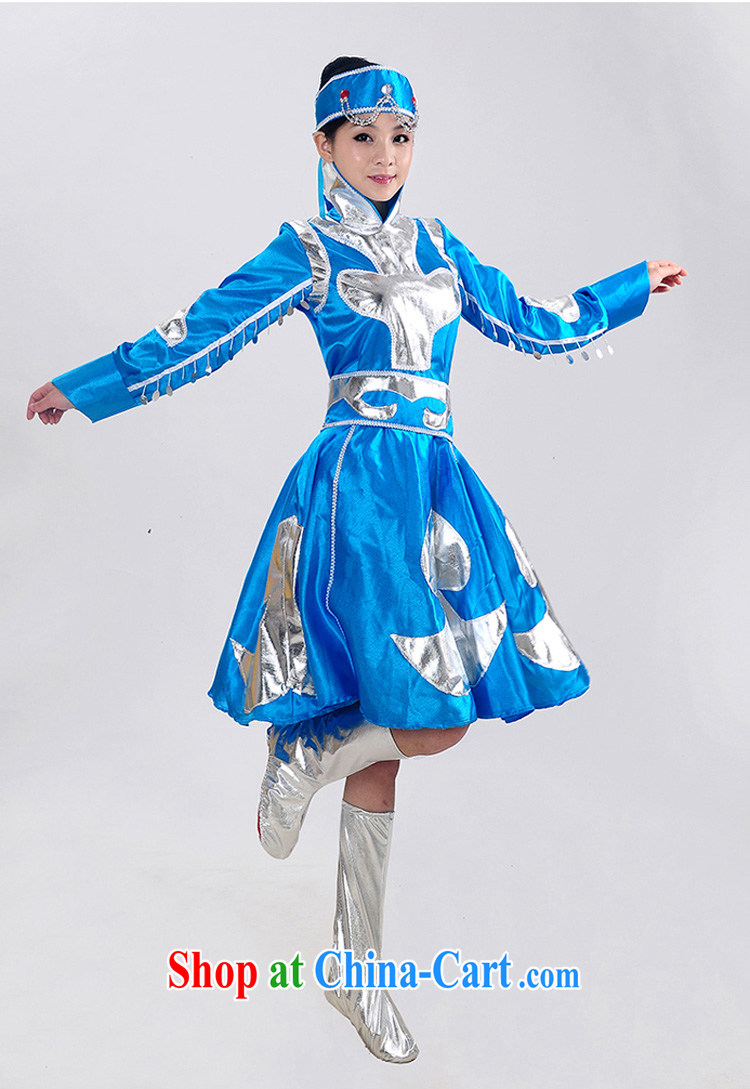 Dual 12 new special minority clothing Mongolian dress Mongolia Fashion Show clothing dancing girl stage costumes HXYM - 0023 blue 140 pictures, price, brand platters! Elections are good character, the national distribution, so why buy now enjoy more preferential! Health