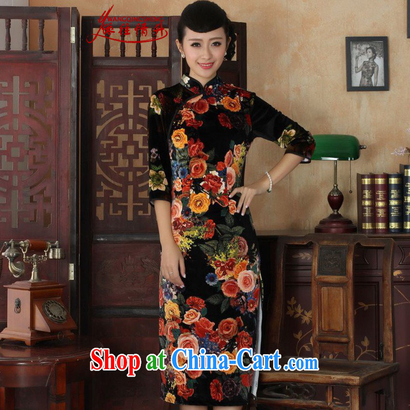 In accordance with the conditions and in winter and spring, the girls dresses and stylish classic stretch the wool poster 7 cuff Cultivating Female cheongsam dress in figure 2 XL