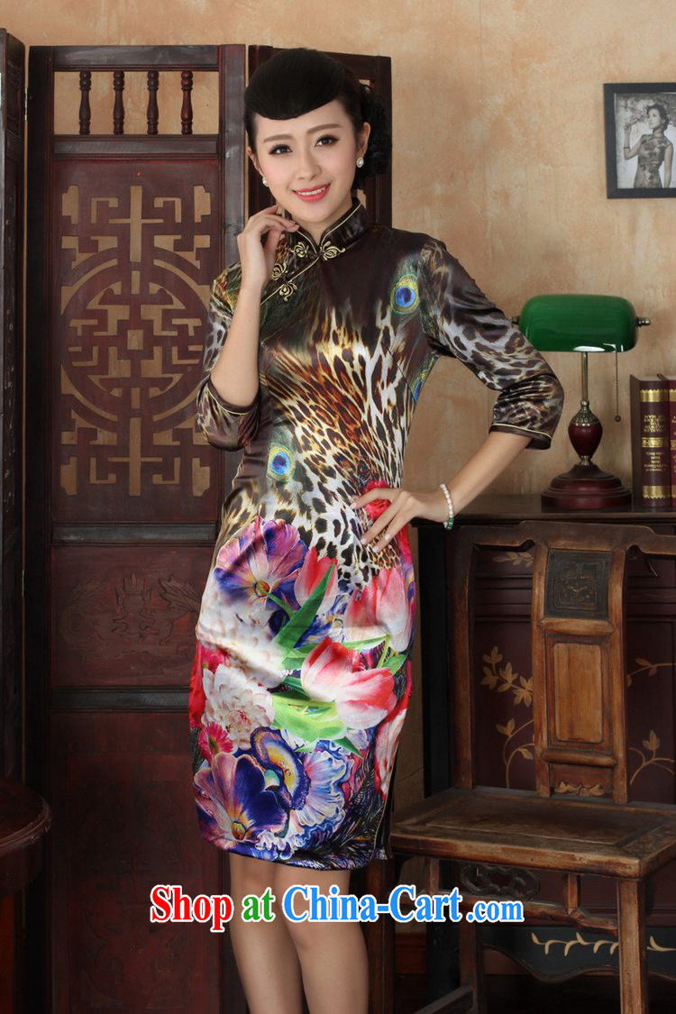 In accordance with the situation in spring and autumn, the female dresses Ethnic Wind the wool poster cultivating 7 sub-cuff cheongsam dress as figure 2 XL pictures, price, brand platters! Elections are good character, the national distribution, so why buy now enjoy more preferential! Health