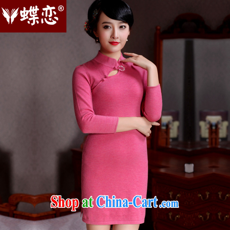 Butterfly Lovers spring 2015 the new improved fashion cheongsam dress wool? retro short cheongsam aura 49,093 figure XL