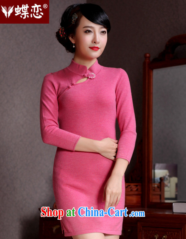 Butterfly Lovers 2015 spring new improved stylish aura pure wool dresses dresses 49,093 figure XL