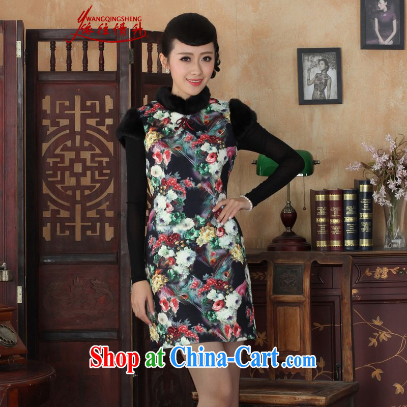 According to the conditions in Spring, Spring and Winter new Chinese qipao, for poster beauty sleeveless dresses skirts such as figure 2 XL